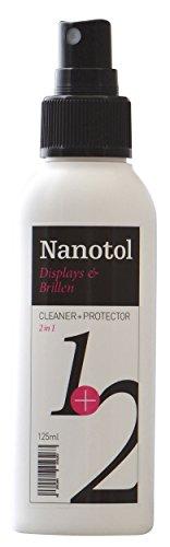 Nanotol Displays + Brillenreiniger 2in1 Cleaner+Protector - Reinigung & Nanoversiegelung für Brillen, Smartphone, Monitor, TV, Tablet uvm. (125 ml)