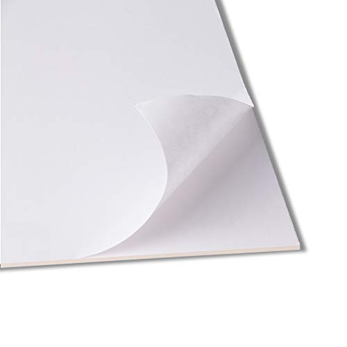 Rückwände selbstklebend - 50x70cm - 2,5mm stark - Karton mit einseitig Selbstklebender Oberfläche - Puzzlekarton - Klebekarton - Kaschierkarton