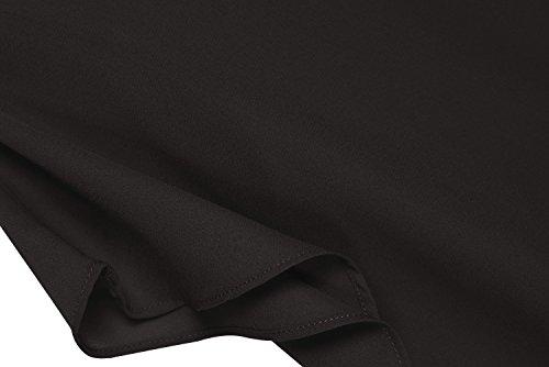 Zeagoo Damen Sommer Casual Loose Fit Kurzarm Fledermaus Batwing T-Shirt Shirt Chiffon Top Bluse Schwarz
