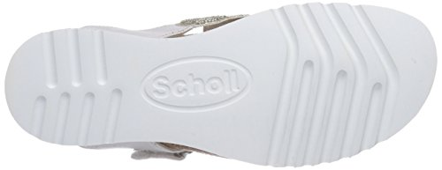 Scholl - Arya Pearl White, Sandali infradito Donna Bianco (Bianco)