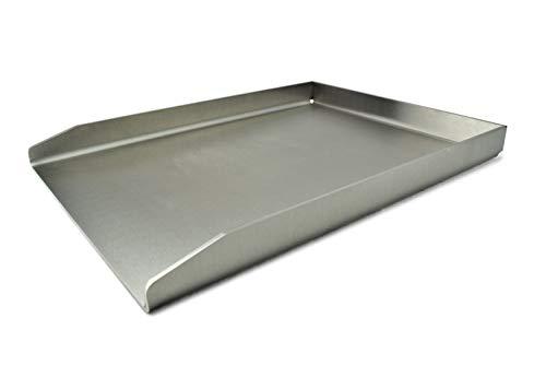 Grillrost.com das original piastra griglia/piastra griglia/piastra griglia/plancha | acciaio inox | solido (universale - 40 x 30cm)
