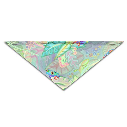 CAP PILLOW HOME Pet Bandanas We Wear Frog Scrubs Triangle Bibs Scarfs for Small to Large Dogs Cats -