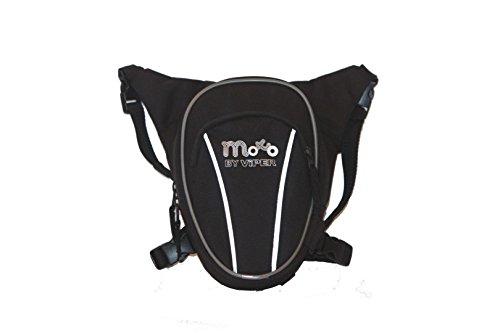 Nuova Stile Borsello da Gamba MOTO Borsa sportiva allaperto di riciclaggio della bici, borsa di pendolare multiuso del sacchetto 8L del piedino del motociclo - Black - One Black