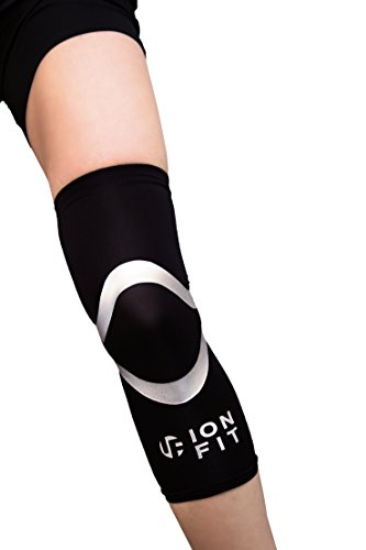 Ionfit Compression Sleeve Bein/Kniebandage, von Detlef Soost Empfohlen, Anti-Geruch, Anti-bakteriell, Gr. S-XXL, Schwarz, L
