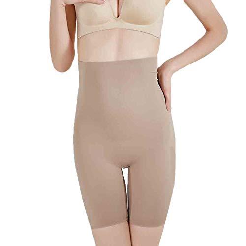 hunpta@ Shapewear Damen,Frauen Shapewear Shorts High-Waist Panty Mitte Oberschenkel Body Shaper Bodysui,Damen Miederhose Higher Power Shapewear(Khaki,S) -