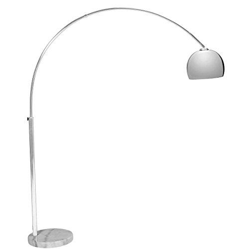 Butlers BOW Standleuchte mit standfestem Marmorfuß - Bogenleuchte Bogenlampe Bogenstandleuchte