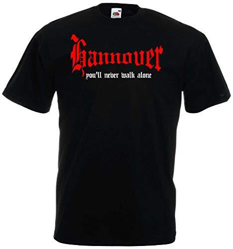 world-of-shirt Herren T-Shirt Hannover You`ll never walk alone