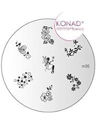 Plaque disque motifs M35 Konad stamping nail art