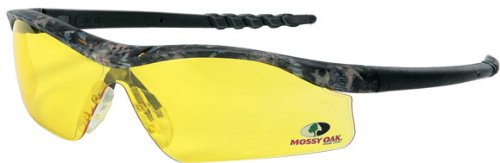 MCR Safety MODL114 Mossy Oak Single Lens Glasses with Dallas Camo Frame and Amber Lens by MCR Safety