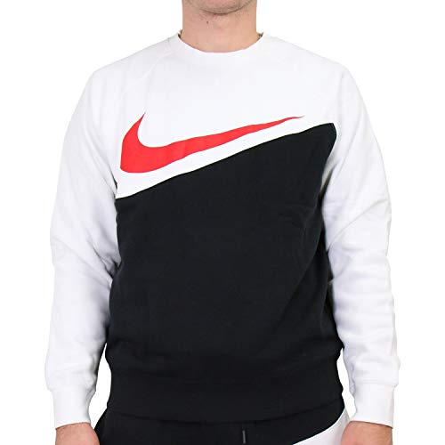 Nike Herren Sportswear Sweatshirts, Schwarz/Weiß/Rot (Black/White/University Red), M