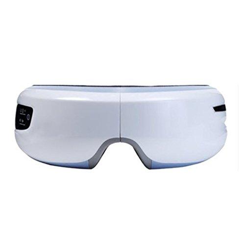 Elektrische Massagegerät Musiktherapie Stressabbau Maschine für Auge mit, 3 Modi Luftdruck Wärmekompression Vibrationsmassage , white