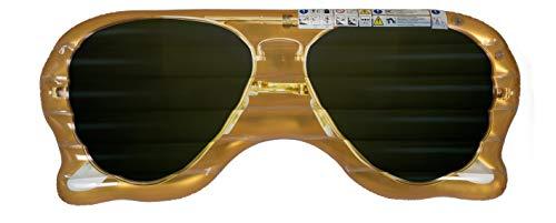 MC Trend Aufblasbare Luftmatratze Pool-Lounge Bade-Schwimm-Insel XXL Urlaub Strand Meer Wasser-Spaß ca. 174 x 70 cm (Sonnenbrille)