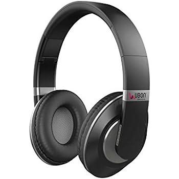 e19c62f3832 UBON BT-5680 Stereo Wireless Bluetooth Headphone with mic and Call Pickup  Option (Grey)
