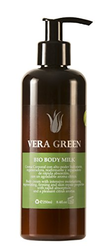 Vera Green Bio Body Milk. Crema de Aloe Vera Corporal de Uso Diario. 100% Biológica. 250 ml.