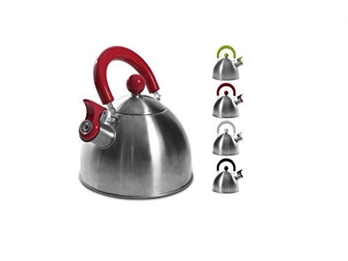 CMP Paris Cuisy KC2118Stainless Steel Kettle 20. 5x 18. 3x 21. 3cm 1. 5L White/Red/Green/Black