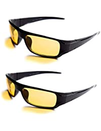 4d0d7608cf Aramoda UV Protected Men s and Women s Day and Night Anti-Glare Polarized  Sunglass (Yellow