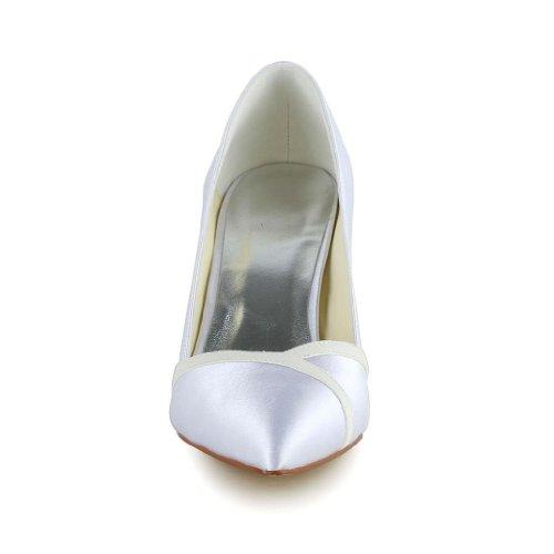 Jia Jia Wedding A3126 chaussures de mariée mariage Escarpins pour femme Blanc
