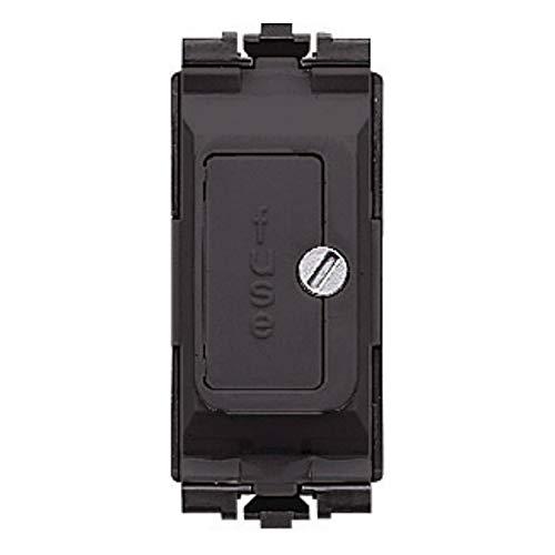 MK Electric Grid Plus Sicherungseinheit, 13 A, Schwarz - Schwarz Grid Switch