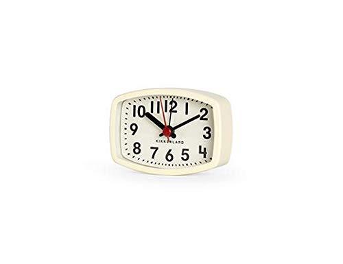 Kikkerland - Reloj Despertador magnético de Viaje, tamaño Compacto, Color Marfil