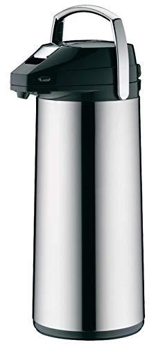 alfi 0987.000.300 Getränkespender, Pumpkanne, Edelstahl poliert 3,0 l, 12 Stunden heiß, 24 Stunden kalt