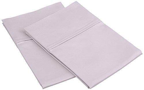450Fadenzahl 100% Premium gekämmte Baumwolle, weich und atmungsaktiv, 2-teilig Standard Kissenbezug Set, massiv, elfenbeinfarben, Lilac, Standard