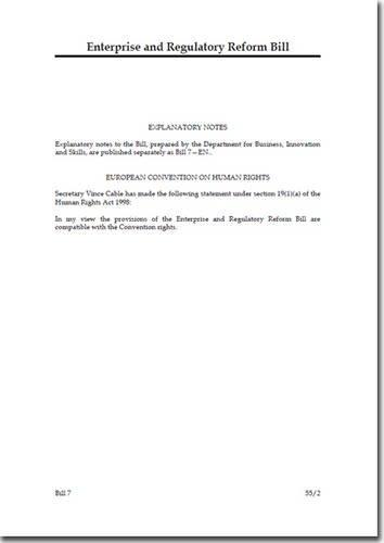 Enterprise and Regulatory Reform Bill (House of Commons bills)