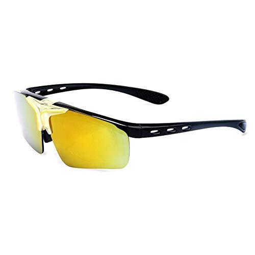 Easy Go Shopping Outdoor Reitbrille Bunte Flip Sonnenbrille Sport Parkour Männer und Frauen Sonnenbrillen und Flacher Spiegel (Color : 5)