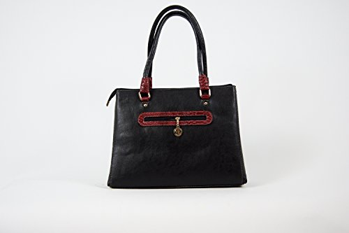 Tasche Damentasche Schultertasche Luxus Taymir 2 Jahre Garantie versch. Farben Schwarz-Rot