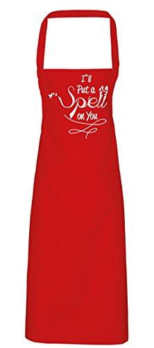 hippowarehouse I 'll Put A Spell On You Schürze Küche Kochen Malerei DIY Einheitsgröße Erwachsene, rot, (Kostüm Red Candy Skull)