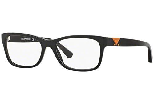 Emporio Armani Frau EA3093 Brillen 53-17-140 Shiny 5017 EA 3093 Schwarz groß