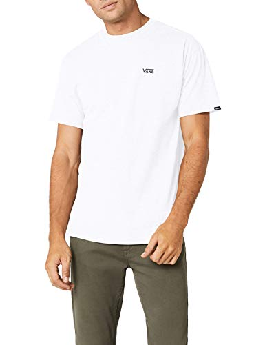 Vans Herren Left Chest Logo Tee T - Shirt, Weiß (White), Large - Volle Brust Logo T-shirt