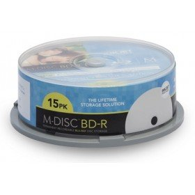 Secomp MILLENNIATA BD-R M-DISC 15er Printable Cakebox 25GB/1-4x Storage 1.000 Year