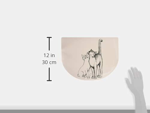 Nobby Plato de Leche de cer/ámica para Gatos 14 cm de di/ámetro x 2 cm