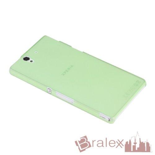 Bralexx 1435 Ultraslim Hülle für Sony Xperia Z L36H, Grün-Transparent (Sony Xperia Z L36h Zubehör)