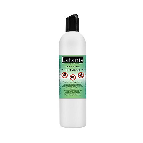 Latanis S16vet Parasiten und Pflege Shampoo Hunde Katzen Parasitenabwehr 190 ml