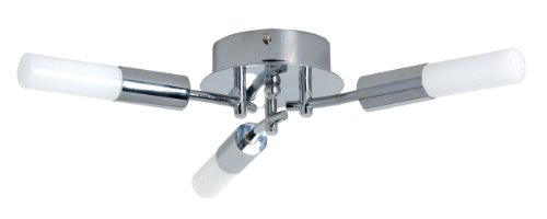 TP24 Low Energy Amsterdam 3 Arm Ceiling Light in Chrome (Chrome Finish Low Energy)