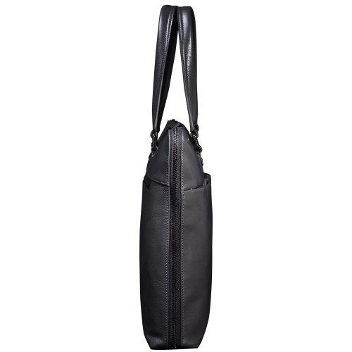 Oneworld Herren Rindleder Messenger Bag Aktentasche Schultertasche Notebooktasche Handtasche Umhängetasche Schultasche Tote Bag 38x30x7cm(BxHxT) Grau Grau