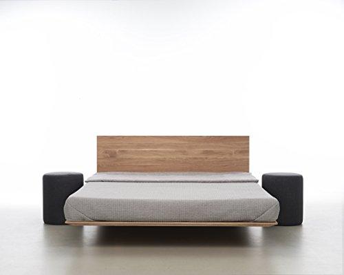 MAZZIVO Nobby Hochwertiges Holz Bett Schlicht & Zeitlos filigran Modern Edel & Elegant - Italienisches Design 120 140 160 180 200 Überlänge Eiche Erle Buche Esche Kirschbaum (Buche, 160 x 220 cm) -