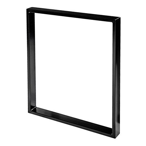 Stahl-Tischkufe | 1 Stück | Tischgestell | Breite 60 cm x Höhe 72 cm | Sossai® TKK1-BL6072-1 | Farbe: Schwarz (pulverbeschichtet) | Gewicht: 6.6 Kg pro Stück