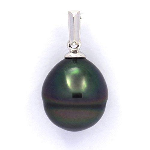 Taaroa Perle-Ciondolo in argento, .925 e 1 perla di Tahiti Cerclée B, 10,6 mm