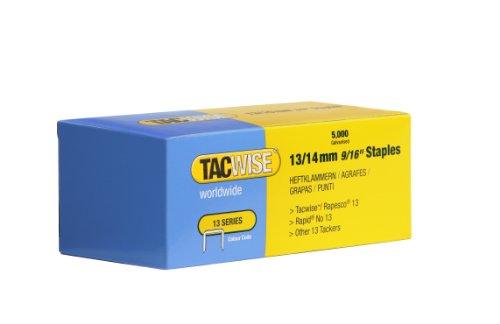 Tacwise 0236 Boîte de 5000 Agrafes galvanisées 14 mm Type 13