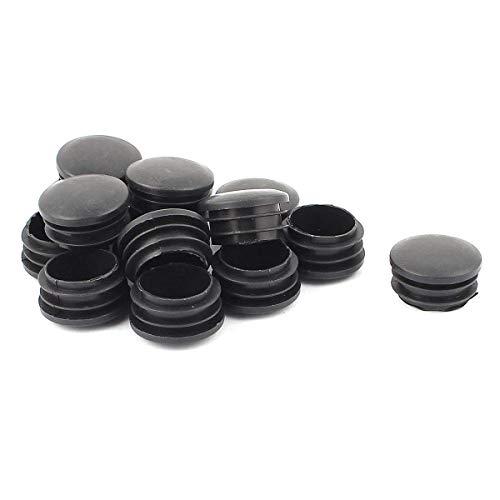 COMOK Endkappen für Rohrrohre, Kunststoff, rund, 33 mm x 20 mm, 15 Stück