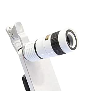 Vomoco TL-8X Portable Zoom Mobile Phone Lens with Blur Effect & Adjustable Clip Compatible with All Mobile Phones,Tablets & Laptop - Assorted Colour