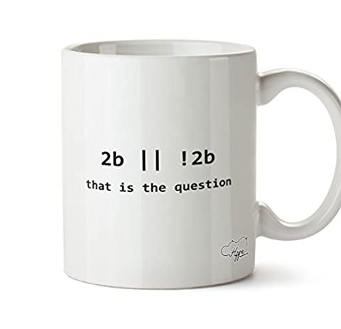 hippowarehouse sein oder nicht sein Programmierer 283,5Tasse, keramik, weiß, One Size (10oz)