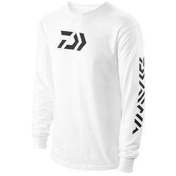 Daiwa 64052203 Vector Print Long Sleeve T-Shirt White, Large -