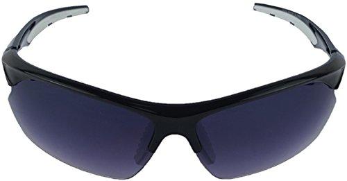 Sportliche Sonnenbrille mit UV400 Sonnenschutz Autofahren Rad Laufen Sport Freizeit Sommer Strand - Sun Glasses Lunettes Soleil Gafas Sol - schwarz