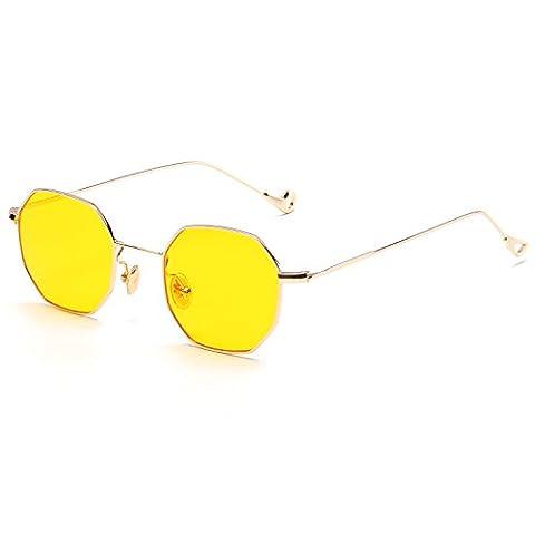 CVOO Trends Women Sunglasses UV400 Clear Sunglasses Brand Designer Unisex Sun Glasses Hexagon Metal Frame Men