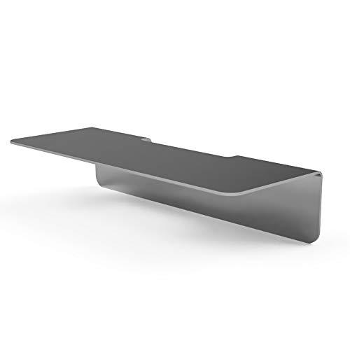 ML+ Duschablage Premium Edelstahl | Selbstklebend Ohne Bohren! | Bad-Ablage Duschregal Rostfrei Halterung Dusche Industrial Design