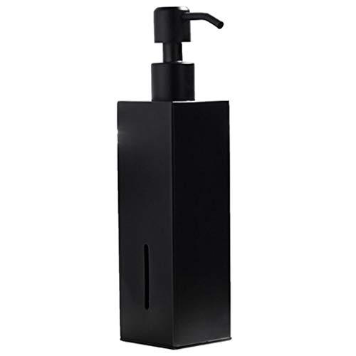 Negro Acero INOX Encimera Dispensador de Jabón,