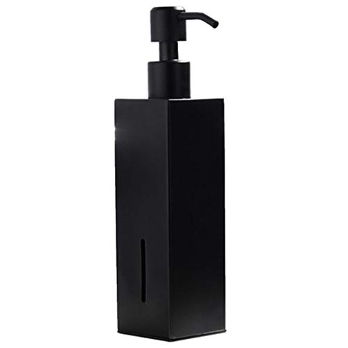 Negro Acero INOX Encimera Dispensador de Jabón, Manos Prensa Fácil Antióxido Dispensador Jabon Liquido para Gel de Ducha el Champú Dispensador de Detergente-200ML